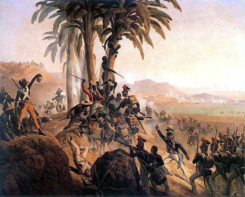 Haitian Revolution - Battle of San Domingo, also known as the Battle for Palm Tree Hill, by Suchodolski (1844)