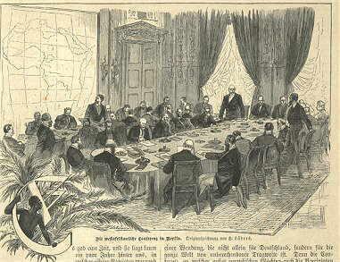 The Berlin Conference by Gartenlaube, 1884